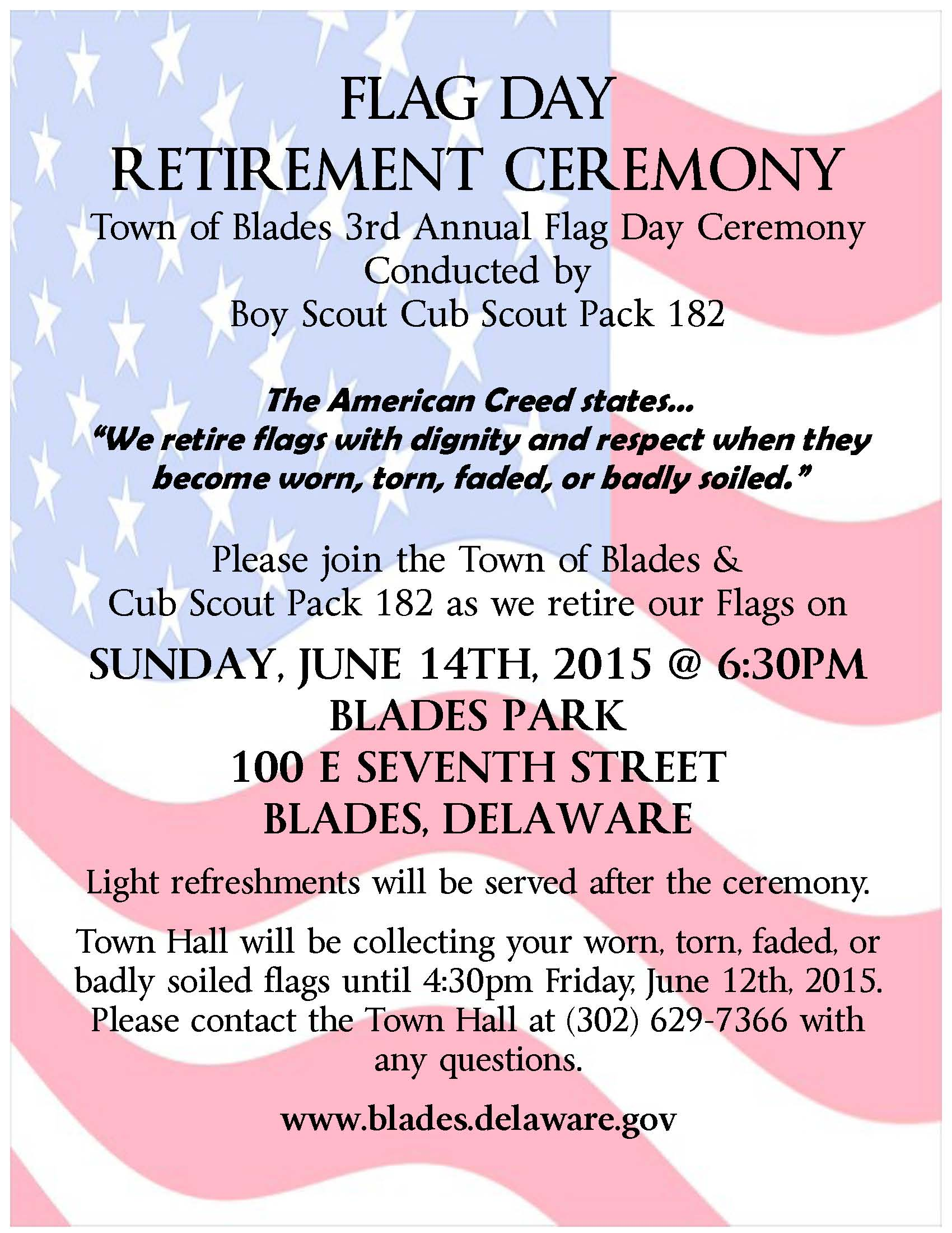 Events - Town of Blades - Sussex County Delaware